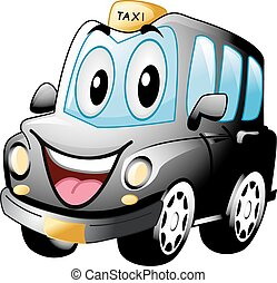 Mascot Black Cab - Mascot Illustration of a Black Cab...