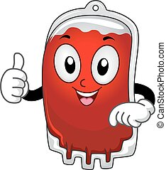 Mascot Blood Bag