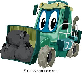 Mascot Garbage Compactor - Mascot Illustration of a Garbage...