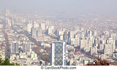 Santiago, chile. skyline - Santiago, chile. View from Cerro...
