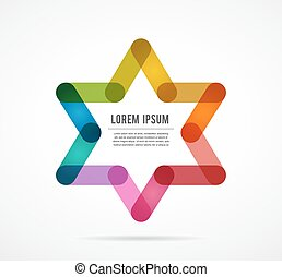 Jewish sign colorful star of magen david - Jewish sign magen...