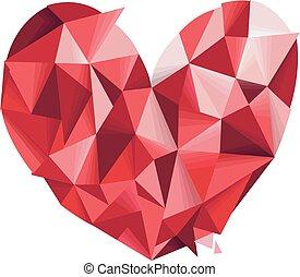 corazón, Extracto, diseño, geométrico