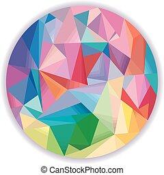 Extracto, diseño, círculo, geométrico