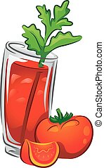 Drinks Bloody Mary - Illustration of a Bloody Mary Drink...