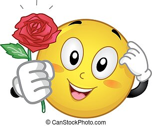 Smiley Give Rose