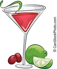 Drinks Cosmopolitan - Illustration of a Cosmopolitan Drink...