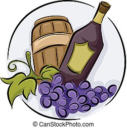 Drinks Wine Icon - Illustration of a Wine Icon consisting of...