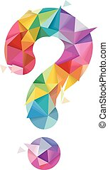 pregunta, Extracto, diseño, geométrico, marca