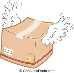 Package Box Wings Fly