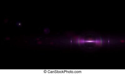 digital perfectly shiny lens flare on black background moving animation hd 1080p