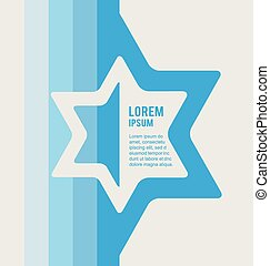 poster of jewish sign of david star with place for text....