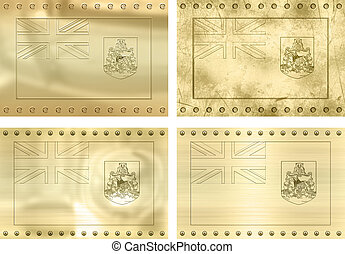 four gold flags of Bermuda