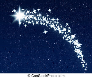 christmas wishing shooting star - great image of a shooting...