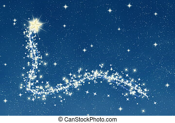 wishing star and night sky - great christmas wishing star...