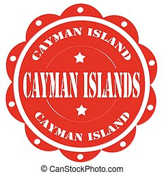 Cayman Islands - Red stamp with text Cayman Islands,vector...