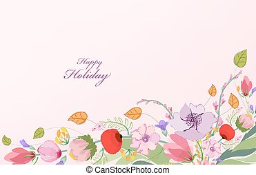 Watercolor Wild flower background