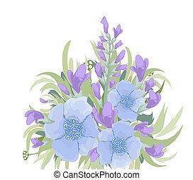 Floral purple Bouquet background