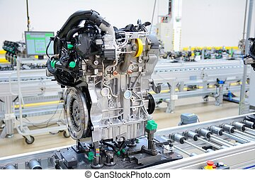 Manufacturing of the new engines - Newly manufactured engine...