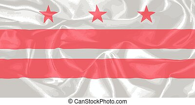 Washington DC State Silk Flag - The Washington DC State Flag...