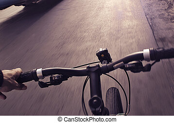 Urban cyclist - Photograph of some cyclists on a urban...