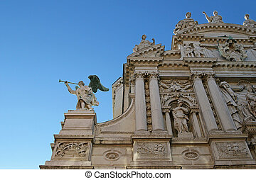 Santa Maria del Giglio church Italy - A Detail of an Angel...