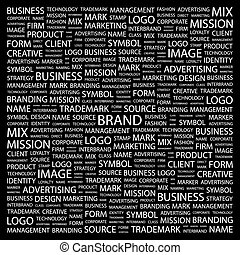 BRAND Concept illustration Graphic tag collection Wordcloud...