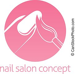 Nail Technician concept - Nail technician, nail bar or salon...