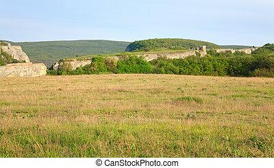 Spring Crimea Mountain landscape (Ukraine). - Spring...