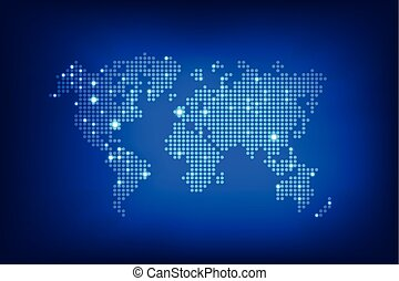 Abstract background dot worldmap glow lighting element...