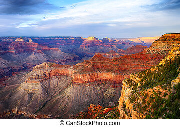 Grand Canyon - Beautiful colors and shapes of the Grand...