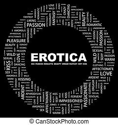 EROTICA. Word cloud concept illustration. Wordcloud collage.