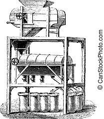 Blower Screener coffee divider, vintage engraving.
