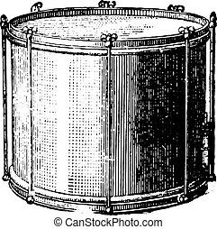 Snare drum rods, vintage engraving. - Snare drum rods,...