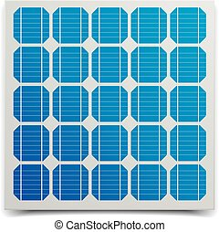 Solar Cell Panel - detailed illustration of a solar cell...