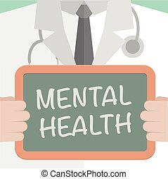 Medical Board Mental Health - minimalistic illustration of a...
