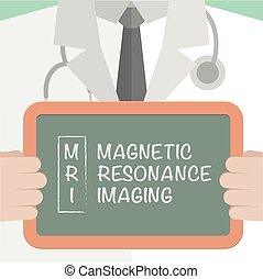 Medical Board MRI - minimalistic illustration of a doctor...