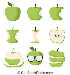 Set of Green apple