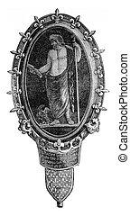 antigüidade, Camafeu, armando, a, era, de, charles, V,...