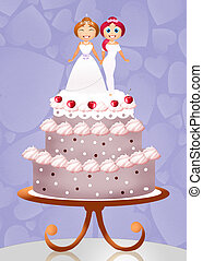 Gay marriage - illustration of gay marriage