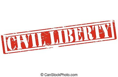 Civil liberty - Rubber stamp with text civil liberty inside,...