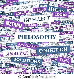 PHILOSOPHY. Word cloud illustration. Tag cloud concept...