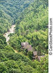 houses among the hills