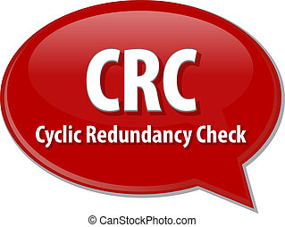 CRC acronym definition speech bubble illustration - Speech...