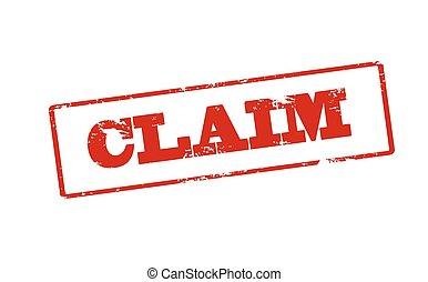 Claim - Rubber stamp with word claim inside, vector...