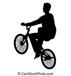 Bicycle rider 3 vector - Bicycle rider vector silhouette...