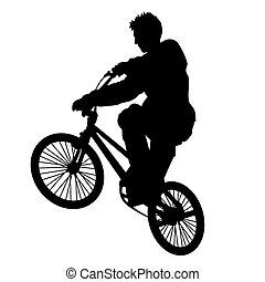 Bicycle rider 5 vector - Bicycle rider vector silhouette...
