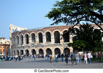 Verona - Italy - Wonderful Arena in the center of Verona -...