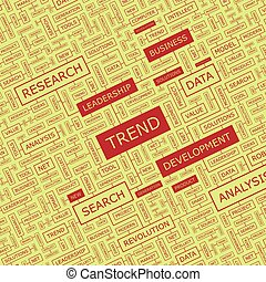 TREND Concept illustration Graphic tag collection Wordcloud...