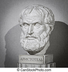 filósofo, Aristotle, escultura,
