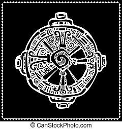 Hunab Ku. Mayan symbol. Vector illustration. - Hunab Ku...